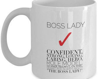 Funny Coffee Mugs - Boss Lady - Boss Coffee Mugs