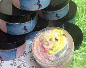 Unicorn Whipped Bath Butter, Sugar Scrub. Vegan . 100ml