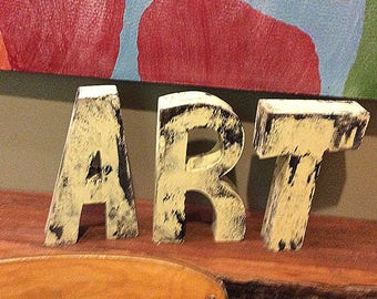 Handmade ART wooden letter sign letters