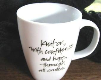 Mug for Knitters - Elizabeth Zimmermannn Quotation