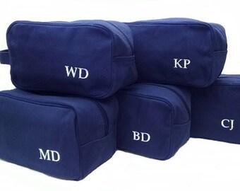 Set of 15 Personalized Mens Toiletry Bags Dopp Kits Shaving Kit Canvas Toiletry Bag Travel Case Wedding Monogrammed Groomsmen Gifts