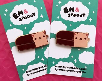 Cat Loaf Enamel Pin -