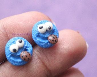 Cookie Monster Earrings, Cookie Monster Charm