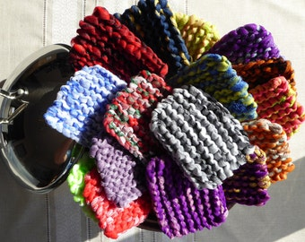 Pot Scrubbers, Tulle scrubbers, Hand knit polyester scrubbers