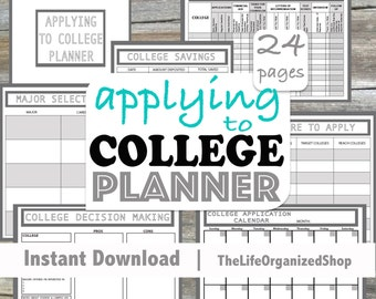 Applying to College Planner (Student Planner) - From the Minimalist Collection