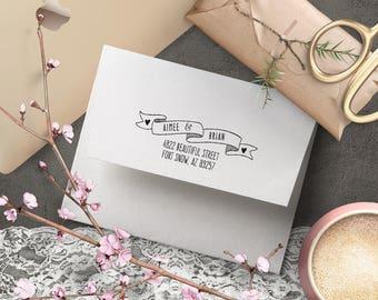 Return Address Stamp - Custom Address Stamp - Calligraphy Address Stamp - Self-inking Rubber Stamp - Wedding Stationery Stamper 14