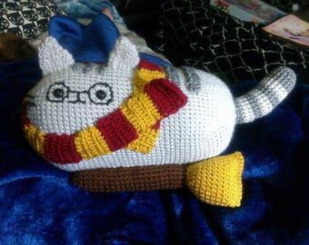 Crochet Harry Potter cat Harry Pawter inspired