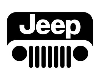 Jeep Grill v2 Cut SVG EPS DXF