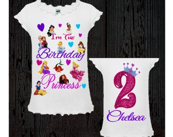 Disney Princess Birthday Shirt or Dress
