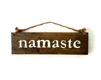 Namaste Wood Sign / Bohemian Sign / Yoga Sign / Yoga Studio Decor / Bohemian Decor / Hippie Decor / Gypsy Art / Wall Decor