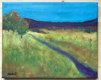 Meadow Road, Original Landscape Painting