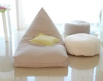 Floor cushion pouf   Etsy