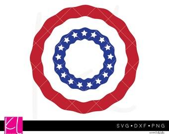 American Flag Bunting Monogram svg, American Flag svg, 4th of July Monogram svg, Flag Bunting svg, Circle Monogram svg, Patriotic Monogram