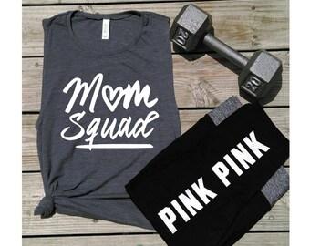 Mom Squad-Motherhood Muscle Tanks-mom life-Women's Muscle Tanks