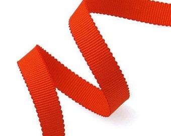 "50 Yard 3/8"" Grosgrain Ribbon Trim, Coral Orange, Brown, Yellow Gold, Burnt Orange, AM10134"