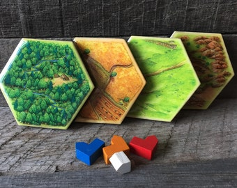 Settlers of Catan Coasters
