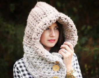 Adult Chunky Hooded Cowl