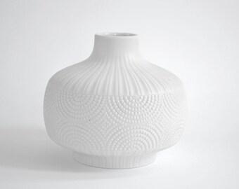 Edelstein Vase. White German Porcelain. Bavaria. Handmade