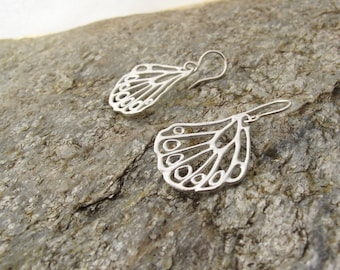 Sterling silver butterfly winged drop earrings Mother's Day gift, ready to ship Buttery Fly wing earrings