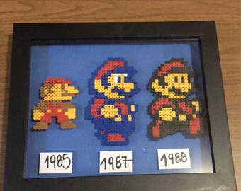 Super Mario Nintendo Shadow Box Frame