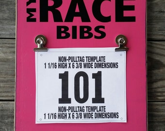 Running Marathon Race Bibs Holder Display Hanger