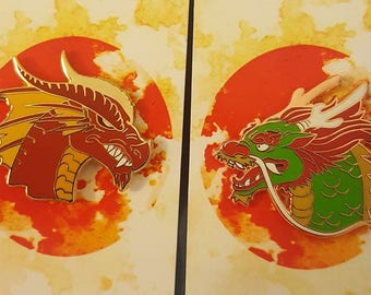 East vs West Dragon Pin Set