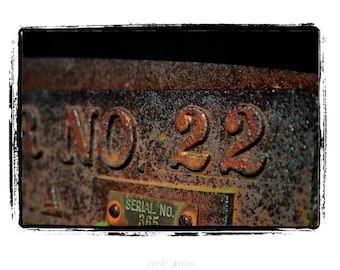 No. 22 Aged Copper Plaque Fine Art Print by Jonah Gilmore