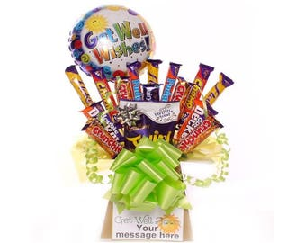 Get Well chocolate bouquet, get well chocolate gift, get well chocolate hamper, Cadbury get well chocolate bouquet