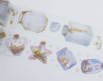 Crystal Bottle/ Drifting Bottle Washi Tape/Deco Masking Tape/Planner Sticker/ Deco tape TZ2622