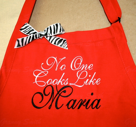 """Bib apron you customize + personalize with three pockets (24""""L x 28""""W) Birthday, Anniversary, Sister, Mother, Aunt, Step-family, Cousin"""