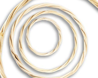 Rattan rings, Traumfängerring, ring F. Mobiles, window Hanger 7, 9, 18, 22, 30, 40 cm (size: 7 cm)