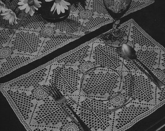 PDF Table Runner and Placemat Pattern, c. 1944