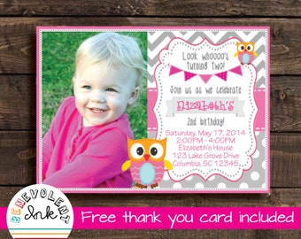 2nd birthday invite etsy printable owl birthday invitation look whos turning two party invite 2nd birthday invitation with stopboris Image collections