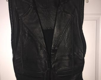 Handcrafted Men's buffalo leather vest size M-L