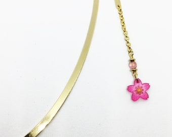 Happy hanami ! wholesome bookmark: pink cherry blossom (sakura)