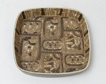 Royal Copenhagen Fajance Baca Ceramic Dish Nils Thorsson 719/2885 Abstract Fish