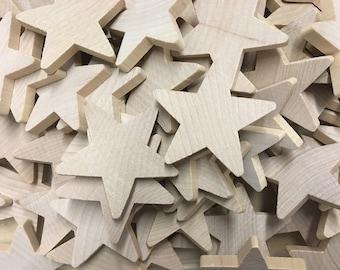 Wood Stars CutOuts, 12 pcs