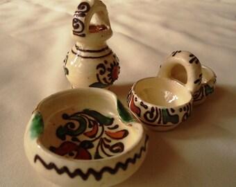 Juego de 3: miniaturas de cerámica