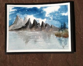 Watercolor Painting: Winter Breeze