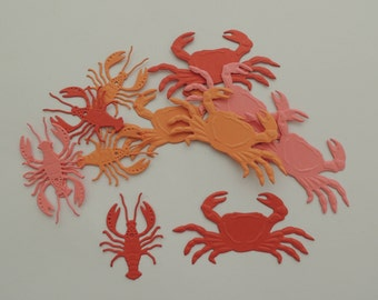 Crab and Lobster Embossed Die Cuts
