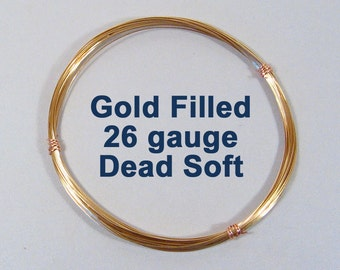 Gold Filled Wire - 26ga DS Dead Soft - Choose Your Length