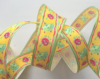 6.50 meters of fancy - fruit apples and pears No. 1435 Ribbon