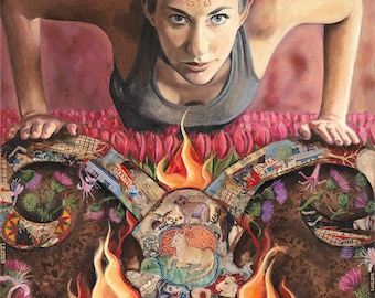 """Aries - The Trailblazer - Reproduction Giclee on canvas - 24""""x36"""""""