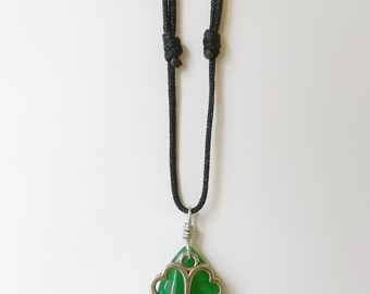 Jade Stone and Lucky Charms Necklace
