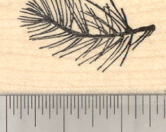 Pine Needle Rubber Stamp, Christmas D28918 Wood Mounted
