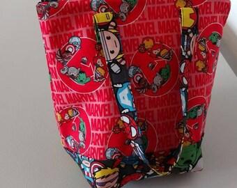 Magic insulated lunchbox using marvel kawaii fabric