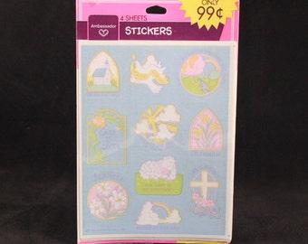 Vintage Ambassador Hallmark 4 Sheets. Worship Stickers. Sealed