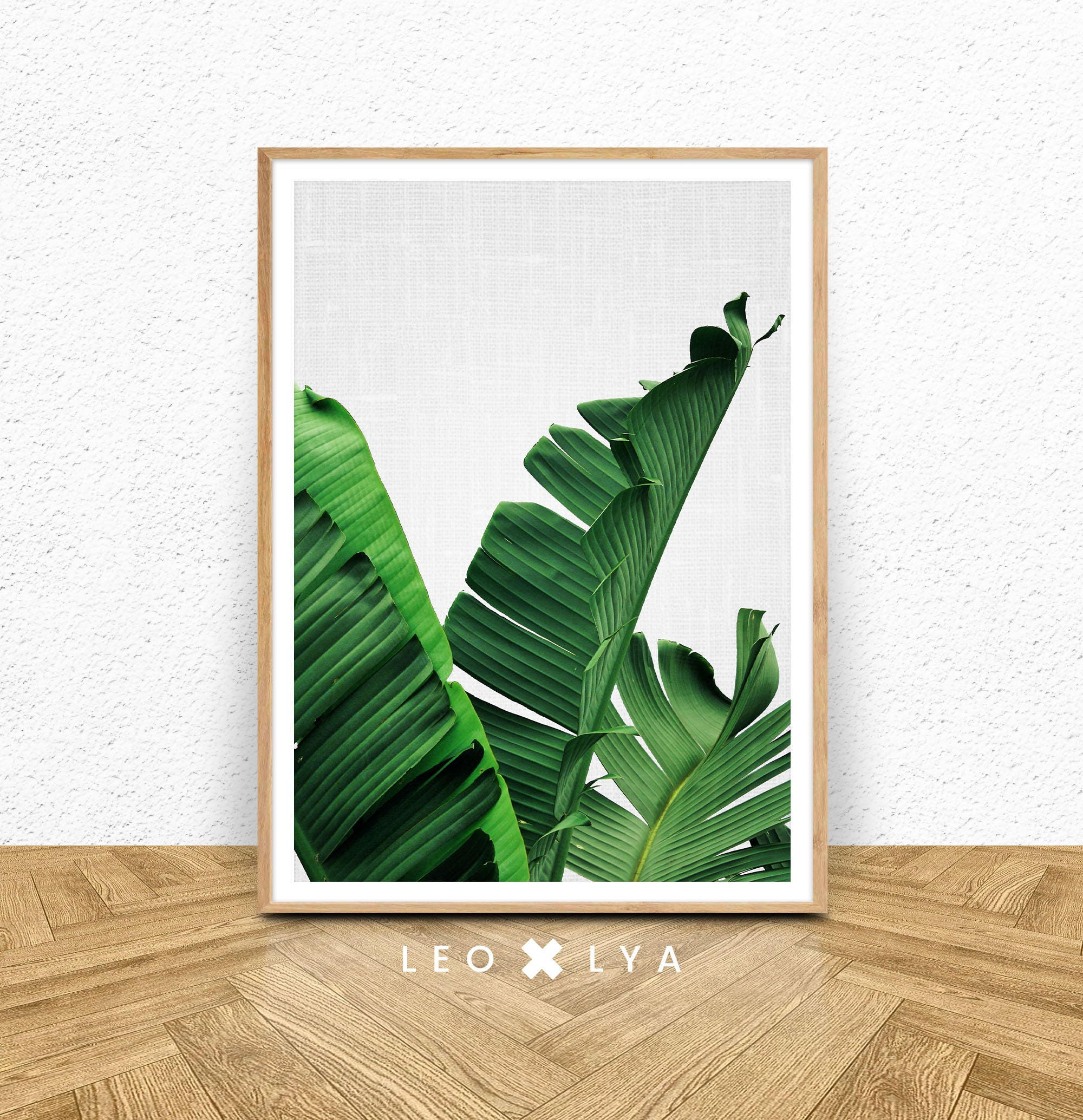 Plant Print Art Banana Leaf Print Banana Print Printable # Muebles Hoja De Banano