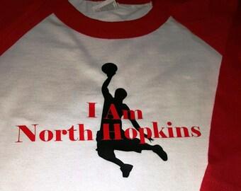 I Am North Hopkins, Baseball T Shirt, Custom T shirt Your School, Basketball, Baseball, Football