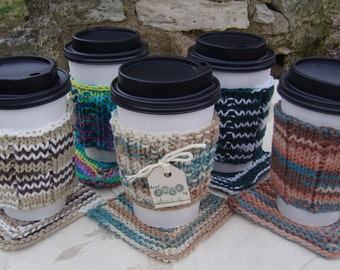 Beverage Accessory Set- Cup Cozy & Mug Mat
